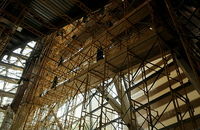A view of construction inside One World Trade Center in September 2011. (Photo by Jackie Schear)